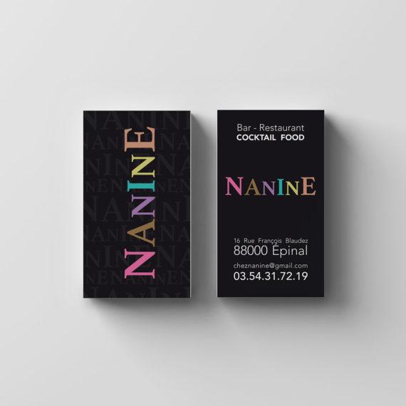 Création de carte de visite -NANINE