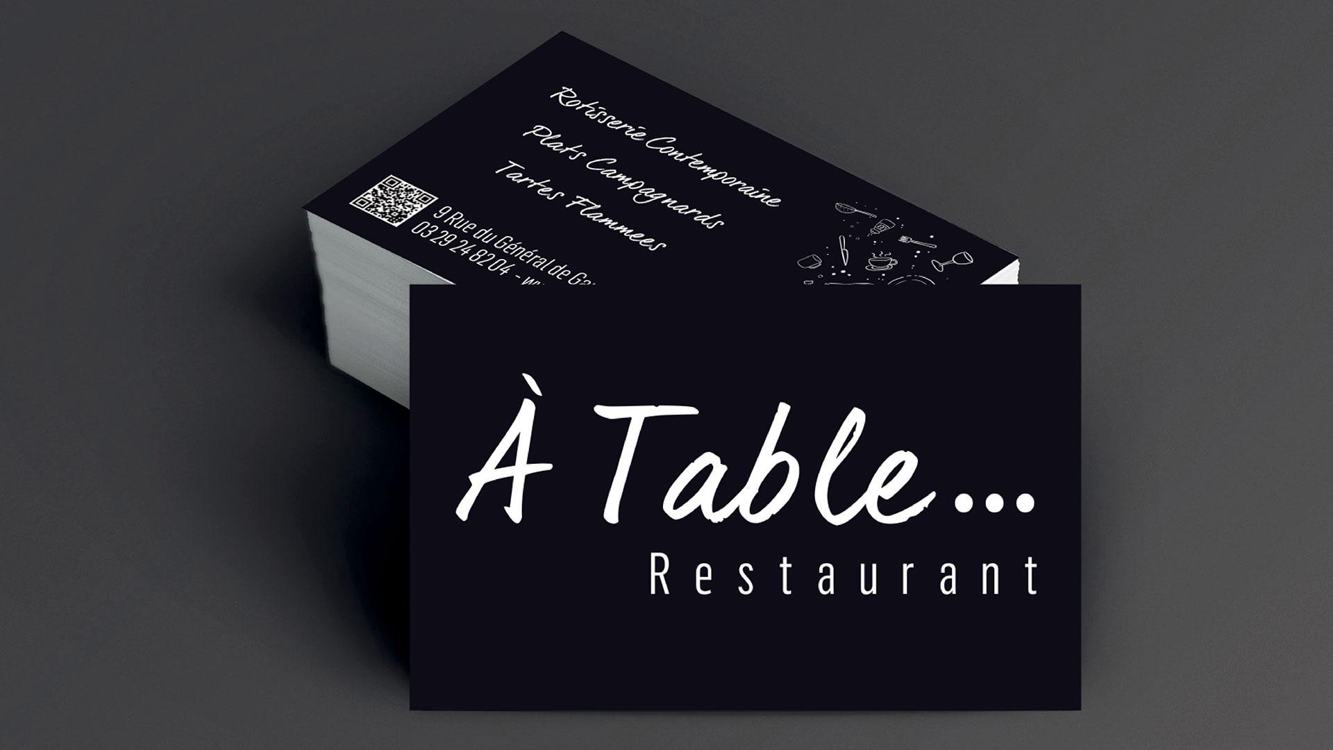 CARTE VISITE A TABLE