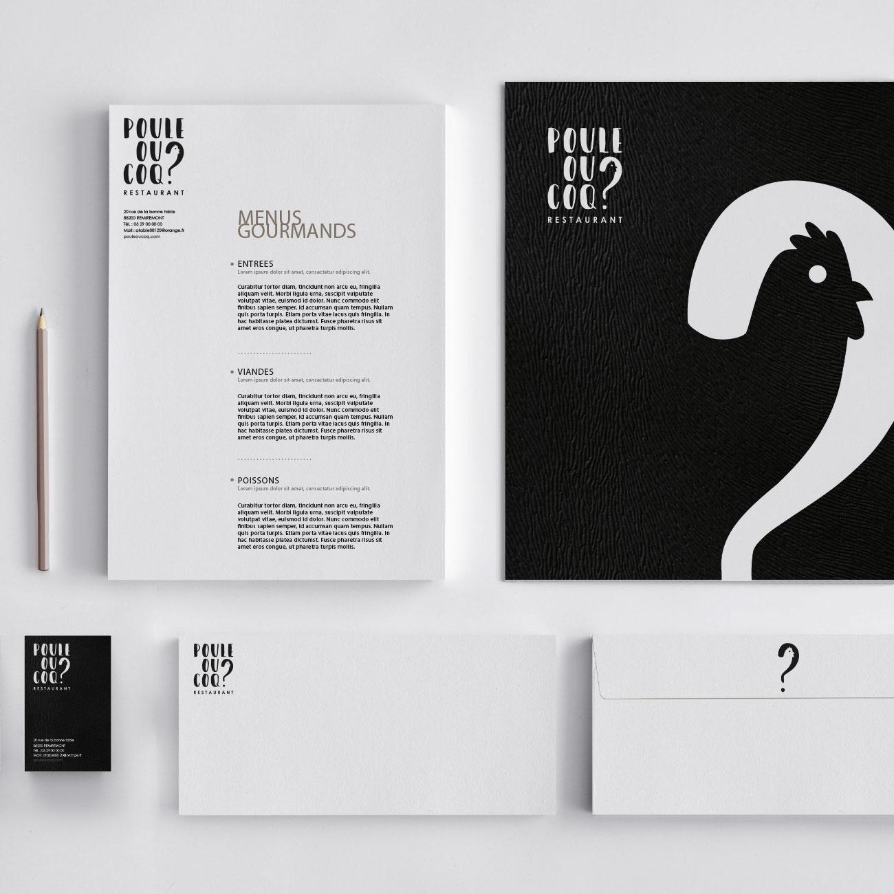 Création de logo pour le restaurant Poule ou Coq